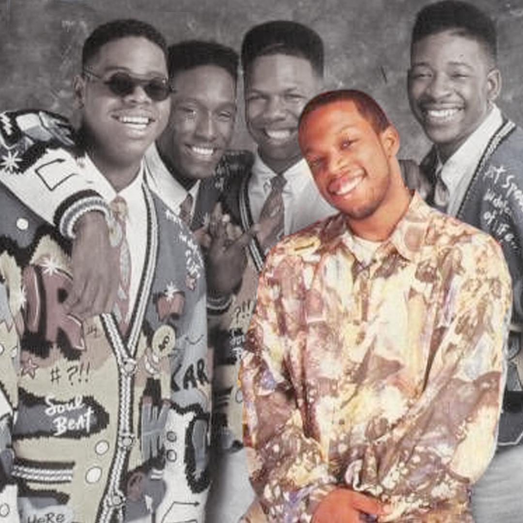 Michael Bivins with Boyz II Men